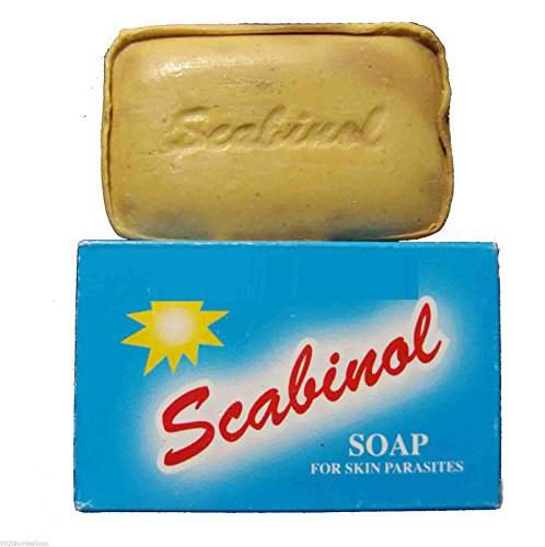 Scabinol Soap Cleanser Removal Skin Hair Lice Parasites S...