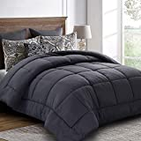 Queen Comforter (88 by 88 inches) - Grey Down Alternative Comforters Soft Quilted
