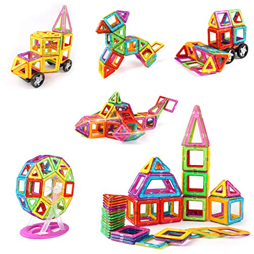 idoot Magnetic Blocks for Kids, Educational Building Toys Magnetic Tiles Ferris Wheel STEM Set - 100pcs by idoot