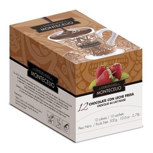 Montecelio - Chocolate a la Taza con Leche Fresa - Estuche 10 Sobres: Amazon.es: Alimentación y bebidas