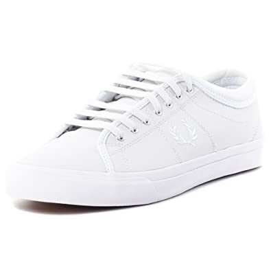 Fred Perry Kendrick Tipped Cuff Leather Men s Trainers Shoes B7460-100 White 7314eba13d