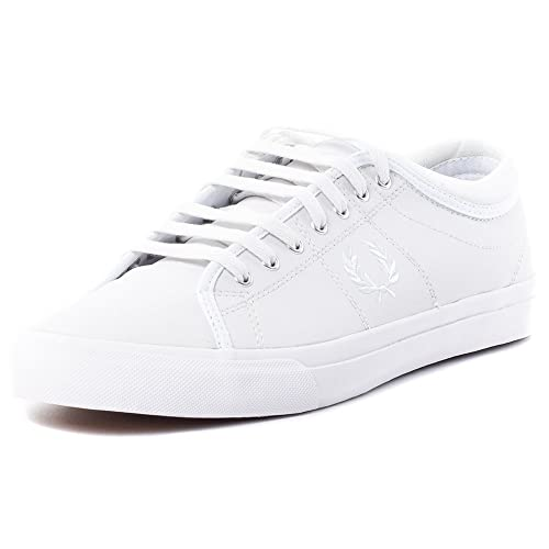 Fred Perry Kendrick Tipped Cuff Leather Hombre Zapatillas Blanco: Amazon.es: Zapatos y complementos