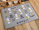 Cartoon animal home carpet pads dry fast mat