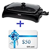 delonghi bbq - Electric Die-Cast Grill with Lid & Thermostat Temperature Control. Portable Griddle Indoor Removable Nonstick Drip Pan 12x16In. 5 Temperature Levels for Family Dinner BBQ Burgers Chicken Appetizers