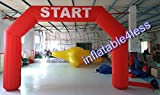 inflatable4less 20FT Hexagon Inflatable Arch Archway w/Fan Start Finish, No Customization (Red)