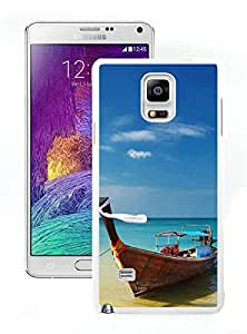 Samsung Galaxy Note 4 Karon Beach Yacht White Screen Phone Case Personalized and Popular Design