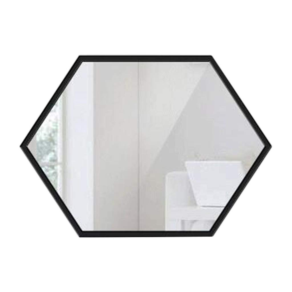 Black 4060cm Wall Mirror Square Mirror Home Living Room Display Mirror Porch Dressing Mirror Bathroom Vanity Mirror Wall Hanging Mirror (color   gold, Size   50  70cm)
