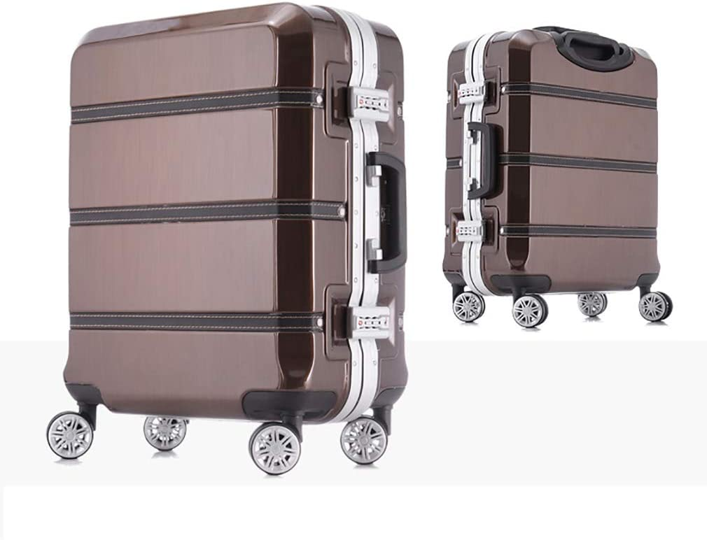 Universal Wheel Aluminum Frame Trolley case Color : Black, Size : 26 Rayem Fashion Luggage Ultra-Light and Durable Password Suitcase