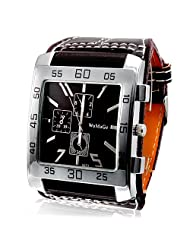 Mens Watches Top Brand Dress Watch Large Wide Vintage Military Square Dial Pu Mens Leather Strap Designer Watches Band