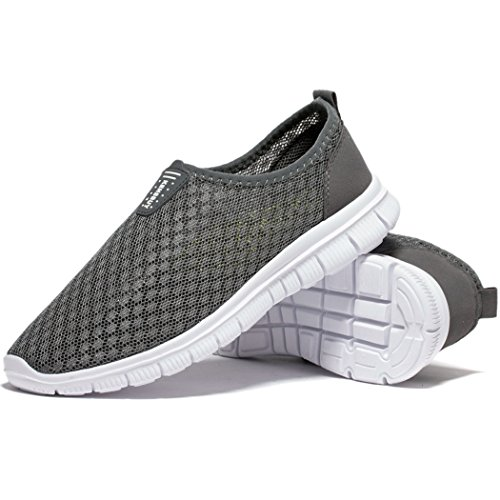KENSBUY Mens Breathable and Durable Sports Running Shoes Lightweight Mesh Walking Sneakers EU41 Grey by KENSBUY (Image #8)