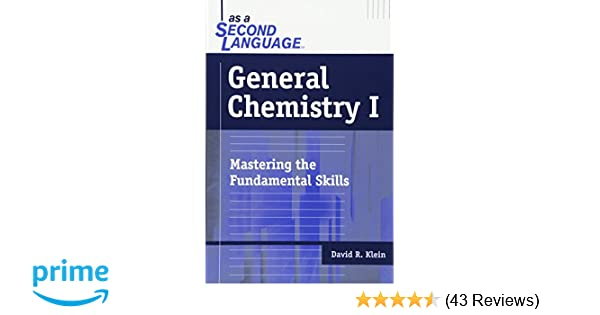General Chemistry I as a Second Language: Mastering the Fundamental