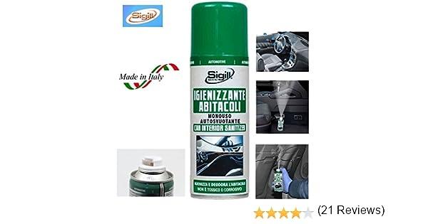 Amazon.es: SIGILL desinfectante spray desechable X abitacoli de ...