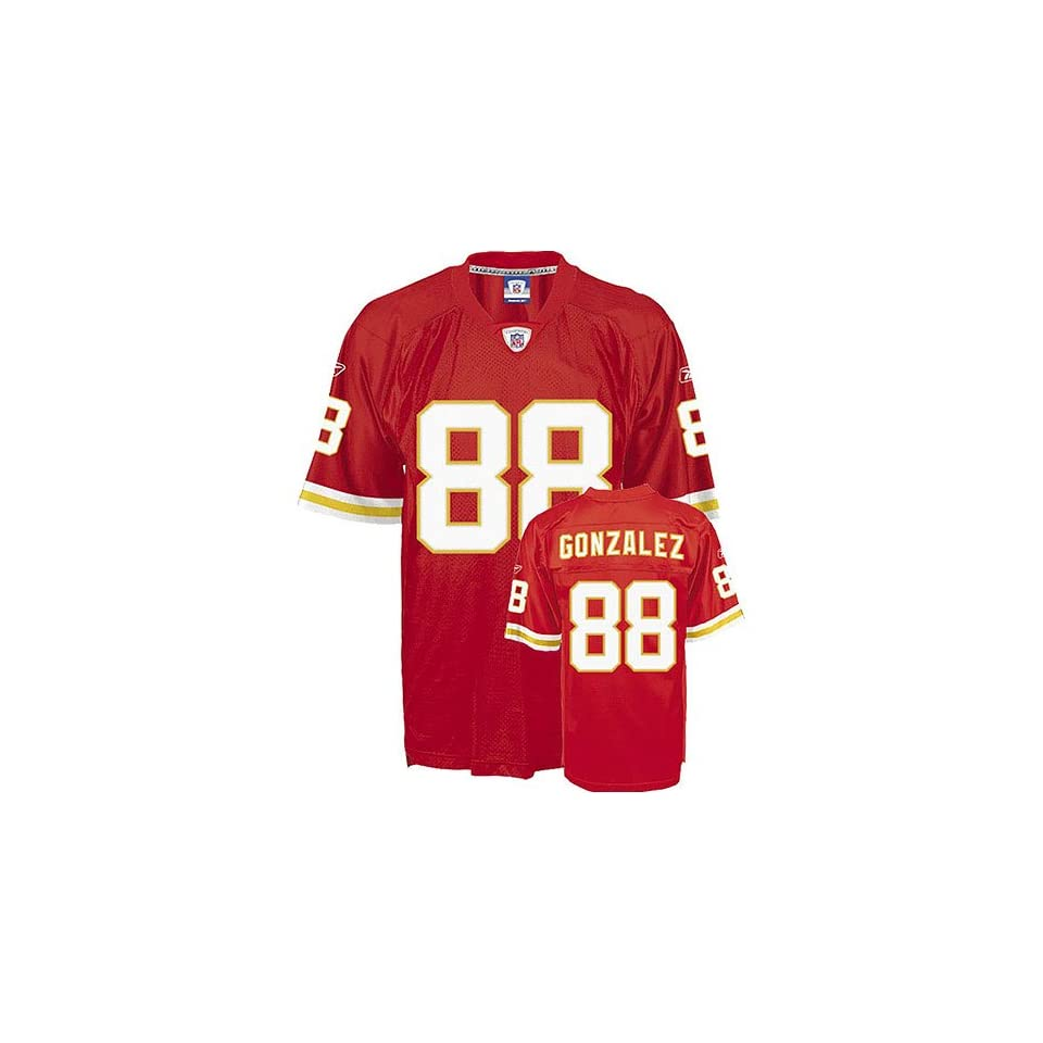 Tony Gonzalez #88 Kansas City Chiefs NFL Replica Player Jersey By Reebok (Team Color)