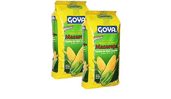 Amazon.com : 2 Pack - Goya Masarepa Yellow Corn Meal 35.2 oz Harina de Maiz Amarilla Arepas : Grocery & Gourmet Food