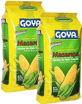 Amazon.com : 2 Pack - Goya Masarepa Yellow Corn Meal 35.2 oz ...