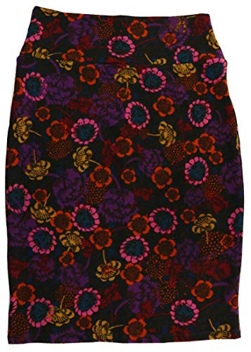 Cassie Flower - Lularoe Cassie (Small) (Flowers on Purple)