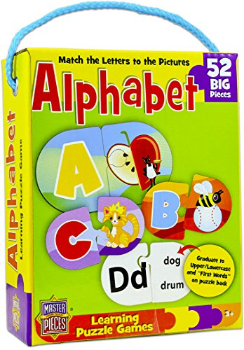 MasterPieces / Mini Learning Games Alphabet 52-Piece Matching Puzzle Masterpieces Puzzles Games