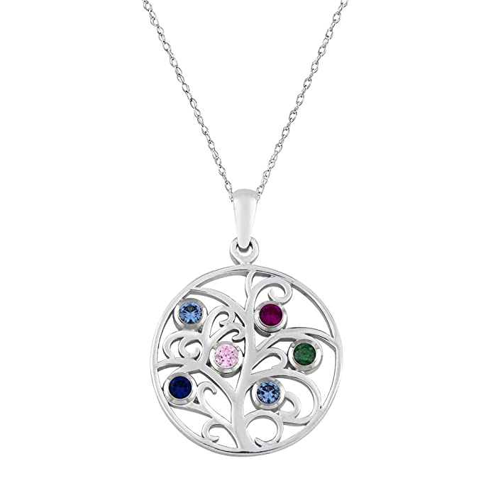 a817567fd4da2 Esty & Me Family Tree Pendant with Six Personalized Swarovski ...