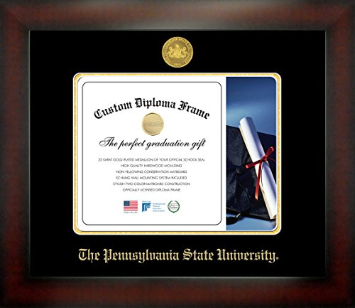 The Pennsylvania State University 8 x 10 Mahogany Finish Infinity Diploma Frame by Celebration Frames by Celebration Frames