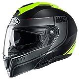 HJC Helmets i90 Helmet - Davan (X-Large) (Black/HI-VIZ)