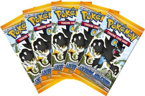 Pokemon DP6 Legends Awakened Booster Pack (5 Pack Lot) [Toy]
