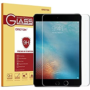 """OMOTON Ultra Clear 9H Hardness Tempered-Glass Screen Protector for New iPad 9.7"""" (2017) / iPad Pro 9.7 Inch / iPad Air / iPad Air 2"""