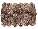 Lambzy Shapes Sheepskin Area Rug, Twelve Pelts, Light Brown