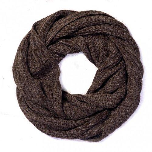 écharpe loop brun laine alpaga