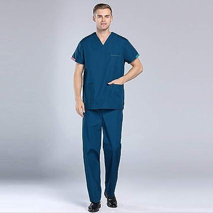 OPPP Ropa médica Nuevo Cuello en v Verano Ropa para Mujer Enfermera Uniforme Hospital Médico Salón