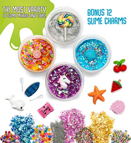Cosmic Slime Kit - Jumbo 55 Piece Set, Slime Supplies, Make Your Own Slime Kit, Slime Charms, Non-Toxic Clear Putty, Slime Kit for Girls and Boys, Sensory Toy and Slime, Great Gift for Girls and Boys by Stardust & Jupiter (Image #2)