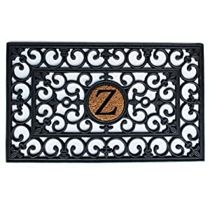 Home & More 150011830Z Rubber Monogram Doormat 18-Inch X 30-Inch (Letter Z)