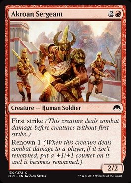Magic: the Gathering - Akroan Sergeant - Origins