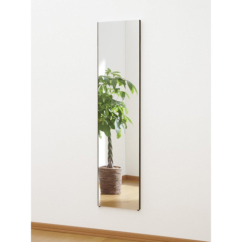 割れない鏡 ミラー 細枠フレーム 全身 姿見 軽量 日本製 幅40 高さ150 木目調 オーク B073W72MH8 幅40×高さ150cm|オーク オーク 幅40×高さ150cm