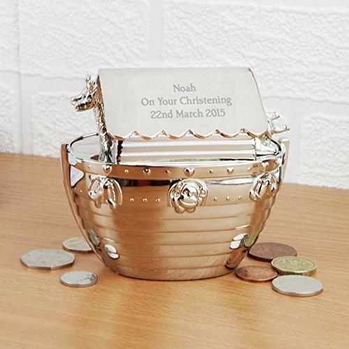 Personalized Keepsake Bank - Personalized Engraved Noahs Ark Money Bank - Personalized free