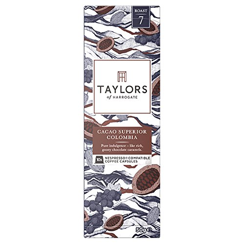 Taylors of Harrogate Cacao Superior Colombia Nespresso Compatible Coffee Capsules, 10 (Taylor Caramel)