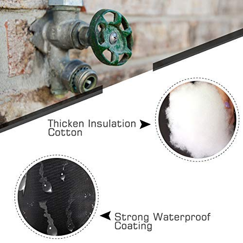 PAMASE 4 Packs Winter Outdoor Faucet Covers, Waterproof Garden Hose Bib Insulation Socks Freeze Protection Cover