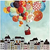 Tableau enfant Ballons in volo - Lilipinso - 30x30 cm