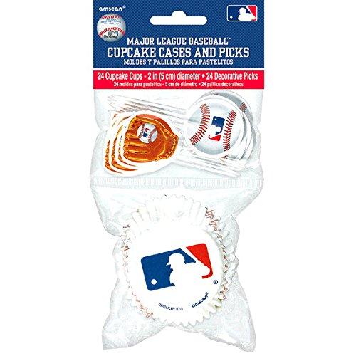 Amscan Mlb Cupcake Cases & Picks Baseball Party (Baseball Cupcake)