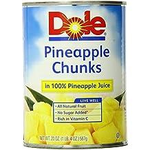 Dole Pineapple Chunks, 20 Ounce (Pack of 6)