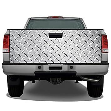 Amazon.com: Diamond Plate (Plata) Camión Portón Trasero Wrap ...