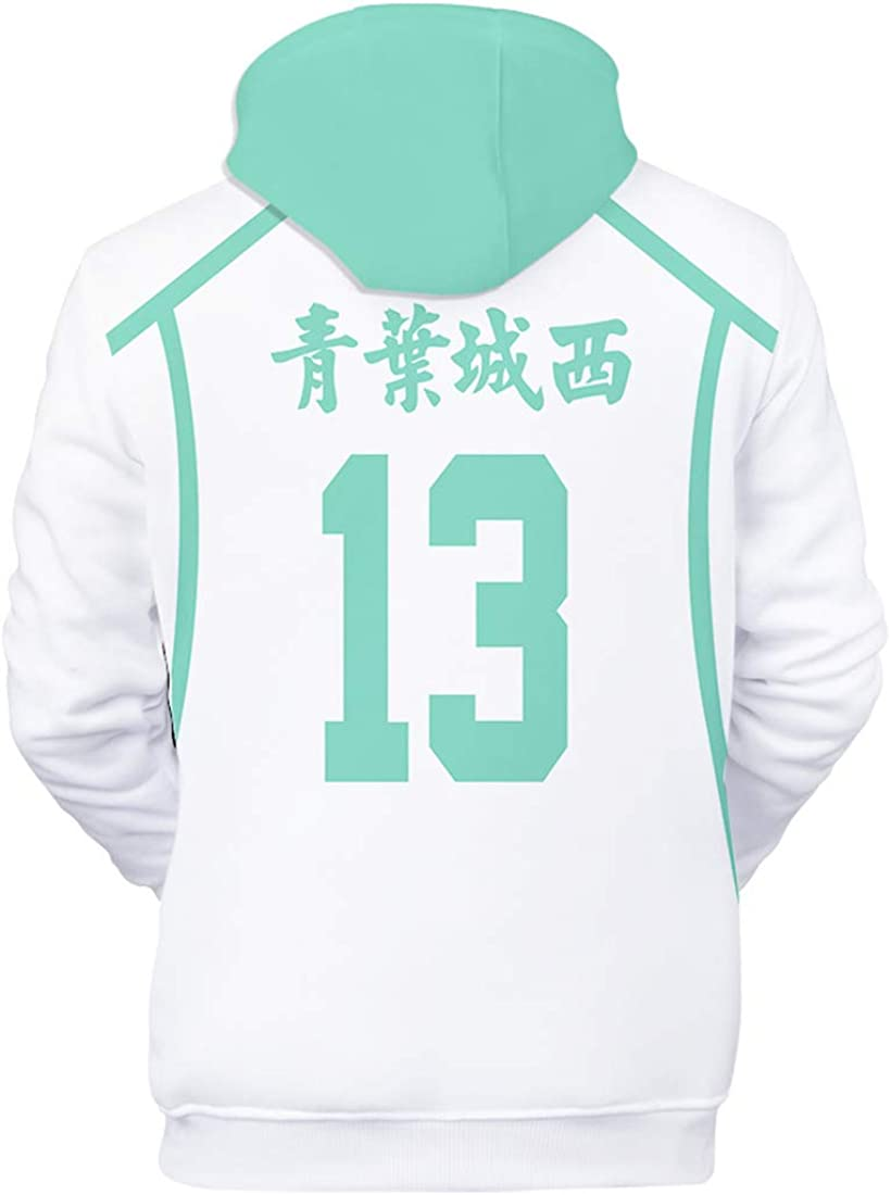 HHNN 3D Gedruckter Haikyu Volleyball Junge-Aoba City West Unisex Männer Und Frauen Casual Sports Hoodie Casual Social Media Star Entertainment Hoodie Größe: XXS-XXL, Kinder: 100-150cm