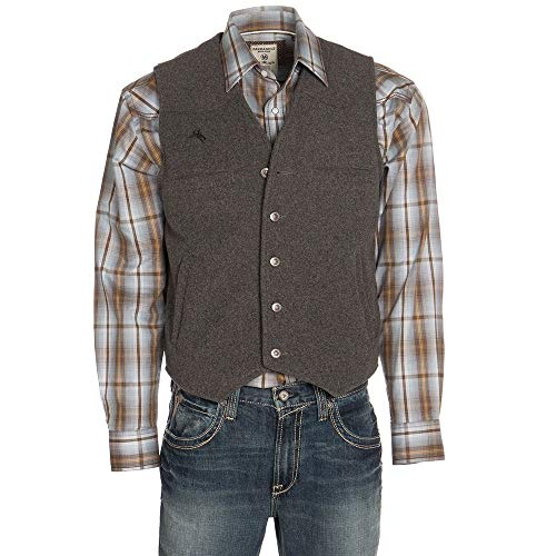 Wyoming Traders Mens Wyoming Wool Vest S Charcoal