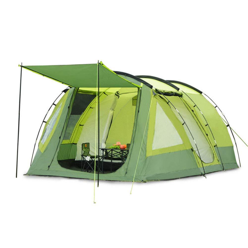 Yuhong Zelt, Tunnel Regensturm Zelt 6-12 Personen Outdoor-Familie Wanderreise OverGrößed Deluxe Zelt