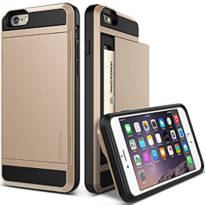 Verus iPhone 6 Plus Case with Card Slot - Retail Packaging - Damda Champagne Gold