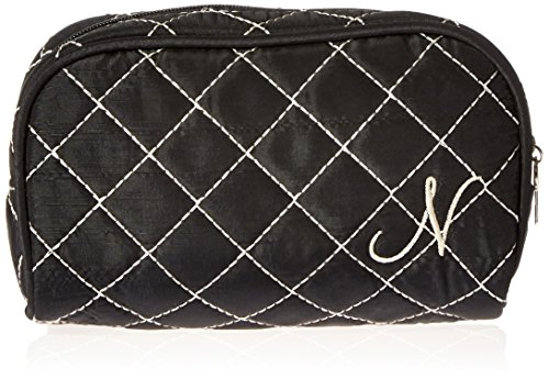 Kate Aspen Cosmetic Couture Quilted Monogrammed Make-Up B...
