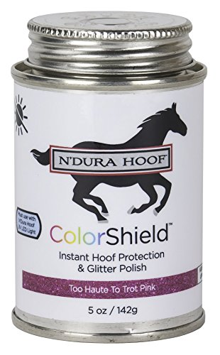 ColorShield Instant Hoof Protection & Polish. TOO HAUTE TO TROT PINK. Hardens in 60 Seconds with UV Light (Included). Rich Color & Protection. Safe, Removable. Lasts up to 2 Wks. - Colorshield