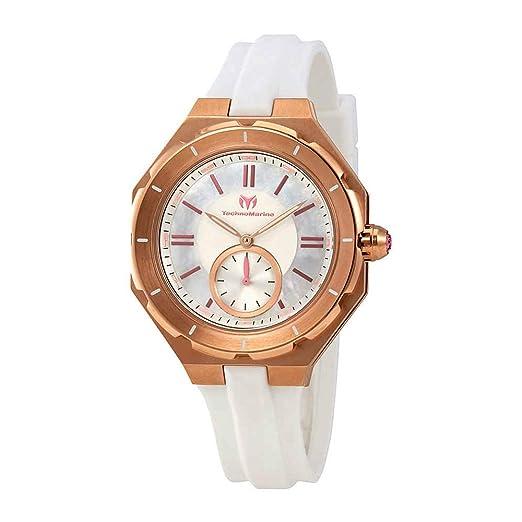 TechnoMarine TechnoMarine Reloj de Mujer Cuarzo Suizo TM-118008: Amazon.es: Relojes