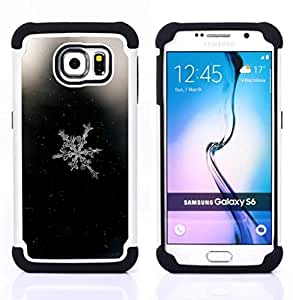 - snowflake window glass white - - Doble capa caja de la armadura Defender FOR Samsung Galaxy S6 G9200 RetroCandy