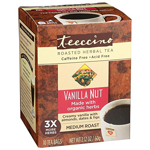 Photo of Teeccino Dandelion Vanilla Nut Caffeine Free Herbal Coffee 10 Count Tee-Bags