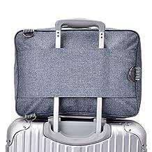 ECVISION Travel Duffel Bag Canvas Bag Shoulder Handbag Carry-on Flight Bag (Blue)